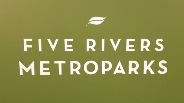 five rivers metro park sign.